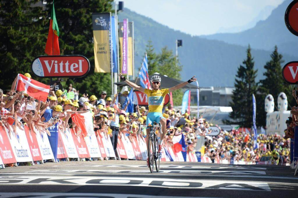 Il trionfo di Vincenzo Nibali a Chamrousse (da Facebook)