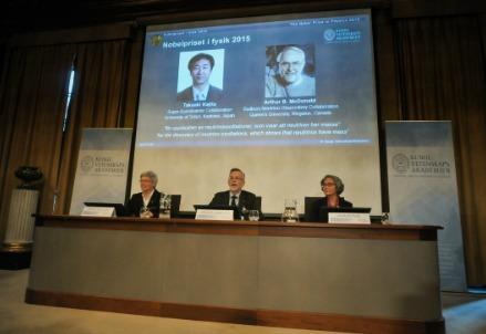Il premio Nobel 2015 per la Fisica