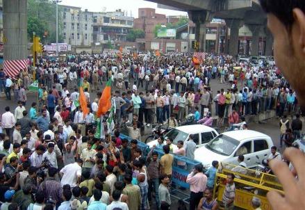Proteste a Nuova Delhi