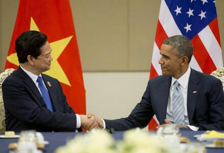 Obama e il presidente vietnamita Tran Dai Quang