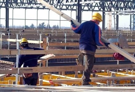 Un operaio dell'edilizia