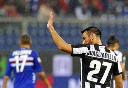 Fabio Quagliarella ai tempi della Juventus: l'allenatore era Conte (Infophoto)