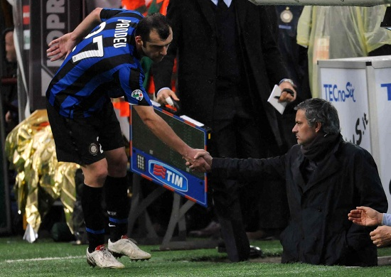 Pandev and Mourinho in their Inter days