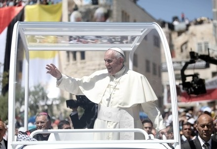 Papa Francesco in Terra Santa (Infophoto)