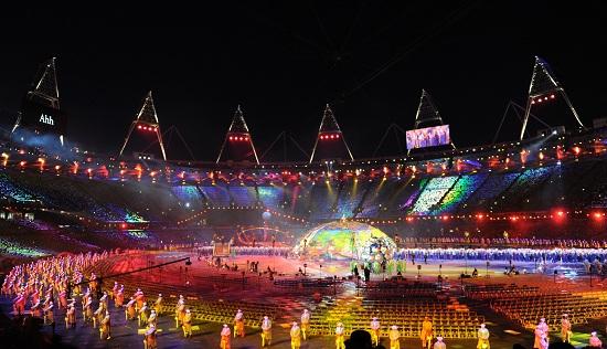 Un'immagine della cerimonia inaugurale delle Paralimpiadi (Infophoto)