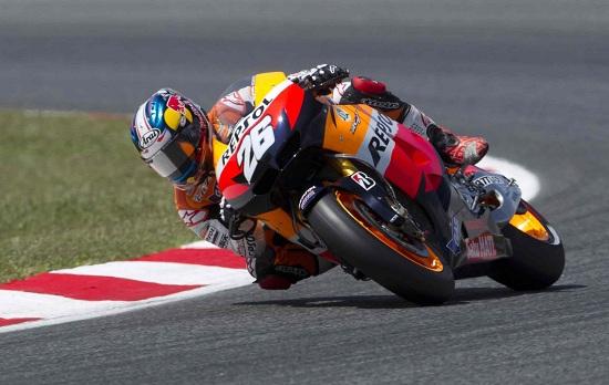 Dani Pedrosa, il più veloce nelle prove libere di ieri (Infophoto)