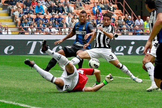 Un'immagine di Inter-Siena (Infophoto)