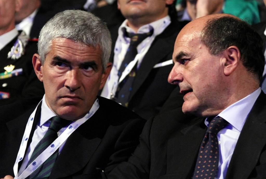 Pierferdinando Casini e Pierluigi Bersani (Foto: Infophoto)