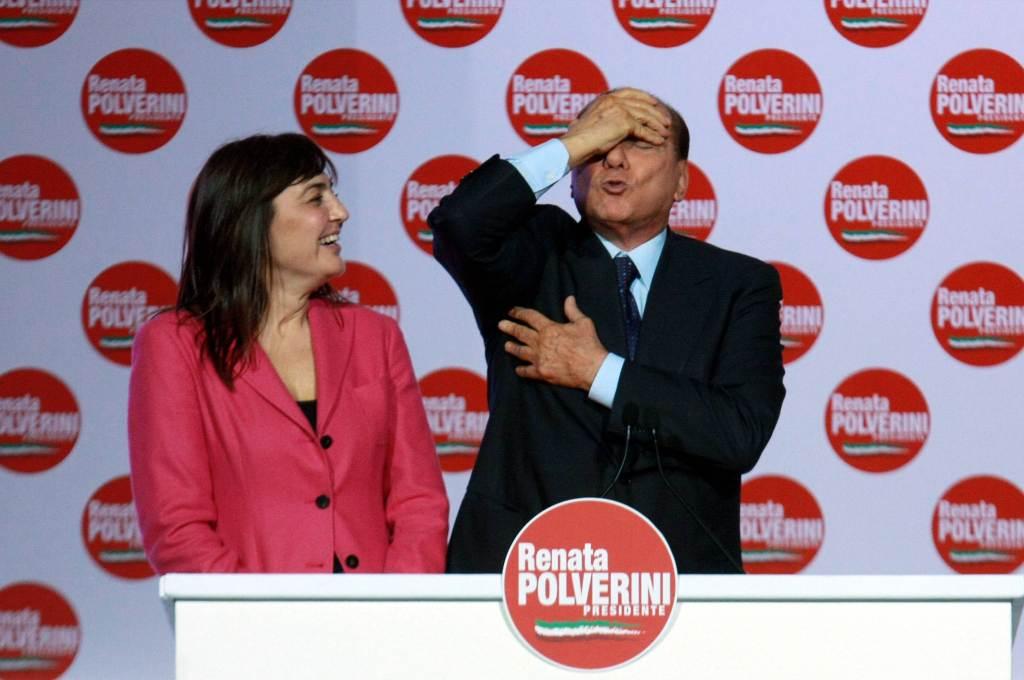 Silvio Berlusconi e Renata Polverini (Foto: Infophoto)