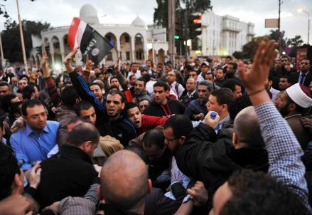 Manifestazioni in Egitto (InfoPhoto)