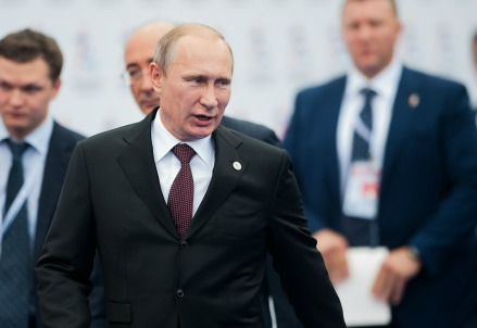 Putin a Milano (Infophoto)