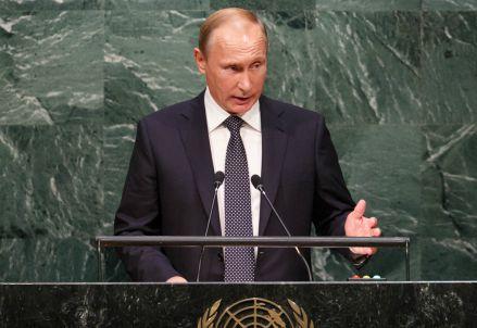 Vladimir Putin all'Onu (Infophoto)