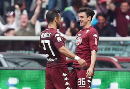 Fabio Quagliarella (sinistra), 32 anni e Matteo Darmian, 25: a segno nel derby (INFOPHOTO)