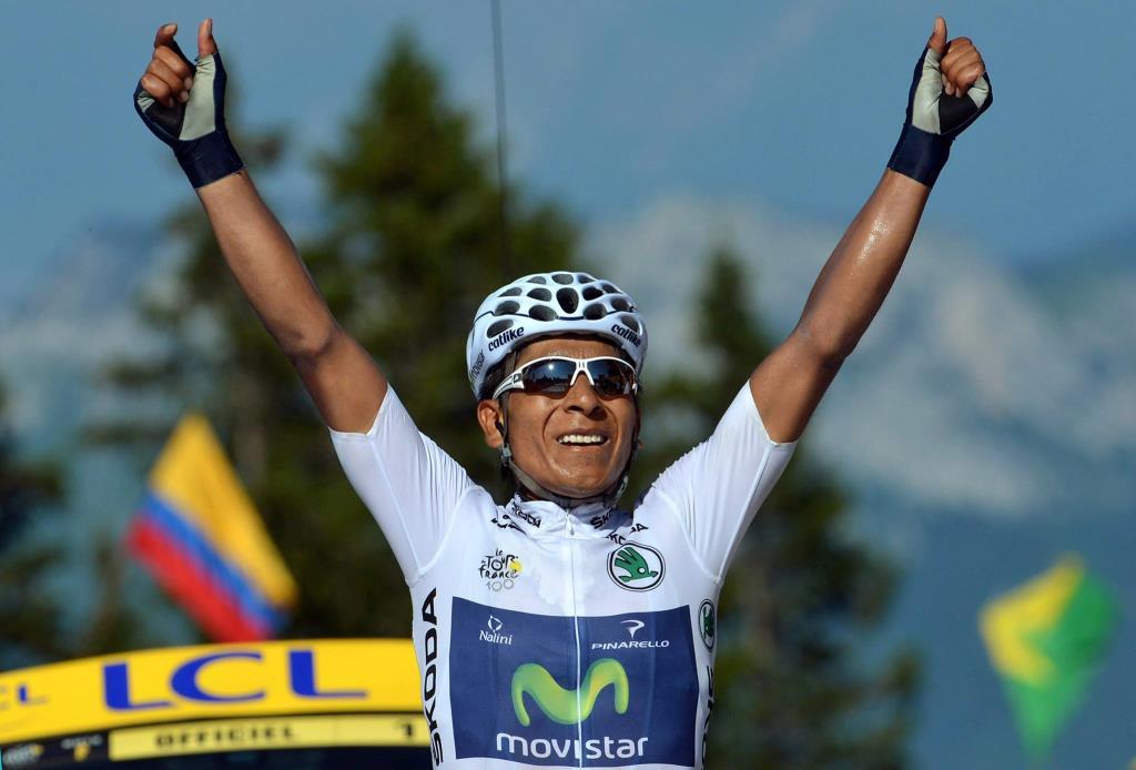 Nairo Quintana è la nuova maglia rosa (da Facebook Tour 2013)
