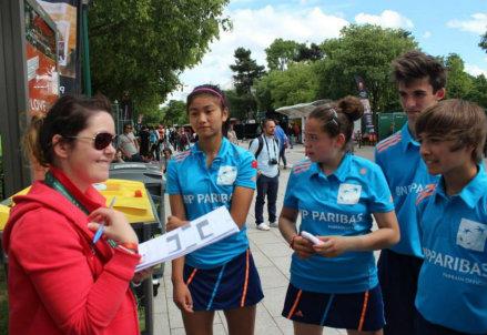 Raccatapalle al Roland Garros 2014