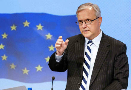 Il commissario europeo Olli Rehn