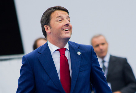 Matteo Renzi a Milano per il vertice Asem (Infophoto)