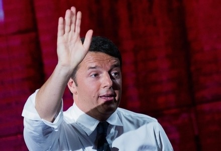 Matteo Renzi ieri a