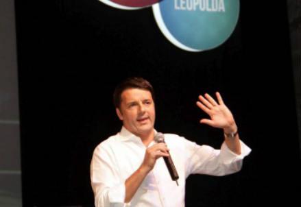 Renzi alla Leopolda (InfoPhoto)