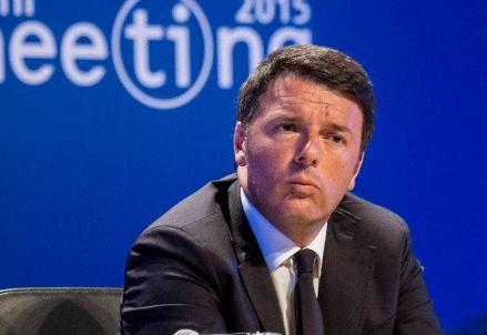 Matteo Renzi al Meeting di Rimini (Infophoto)