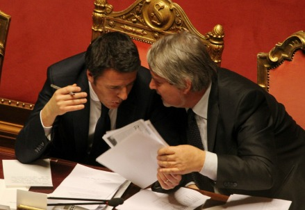 Renzi e Poletti (Infophoto)