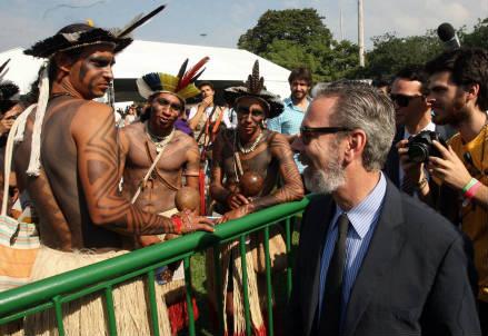Il ministro degli Esteri brasiliano all'apertura dell'evento (InfoPhoto)