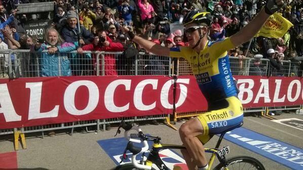 Michael Rogers ha vinto la sedicesima tappa del Tour de France 2014 (Infophoto)
