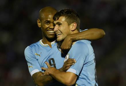 Gli uruguaiani Diego Rolan (sinistra), 22 anni e Georgian De Arrascaeta, 21 (INFOPHOTO)