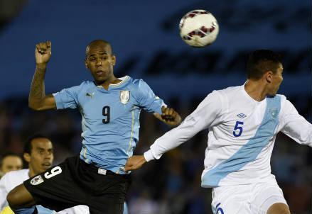 Diego Rolan (sinistra), 22 anni, attaccante uruguaiano (INFOPHOTO)