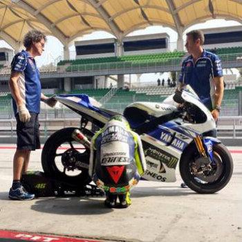 Valentino Rossi nei test di Sepang