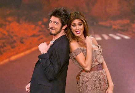 Paolo Ruffini e Belen Rodriguez (Foto: InfoPhoto)