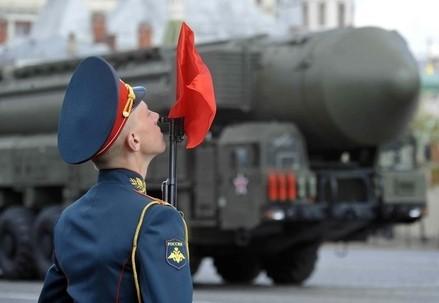 Una parata militare a Mosca (InfoPhoto)