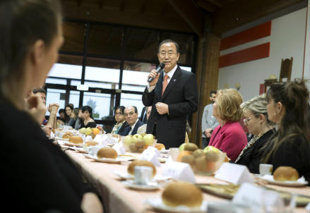 Ban Ki- Moon in visita a San Patrignano