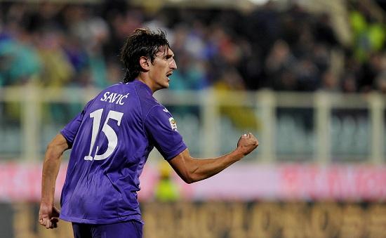 Stefan Svic, difensore della Fiorentina autore di una doppietta contro la Sampdoria (INFOPHOTO)