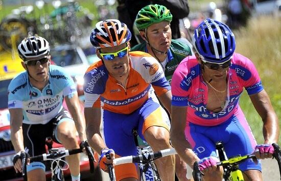 Michele Scarponi in azione al Tour 2012 (Infophoto)
