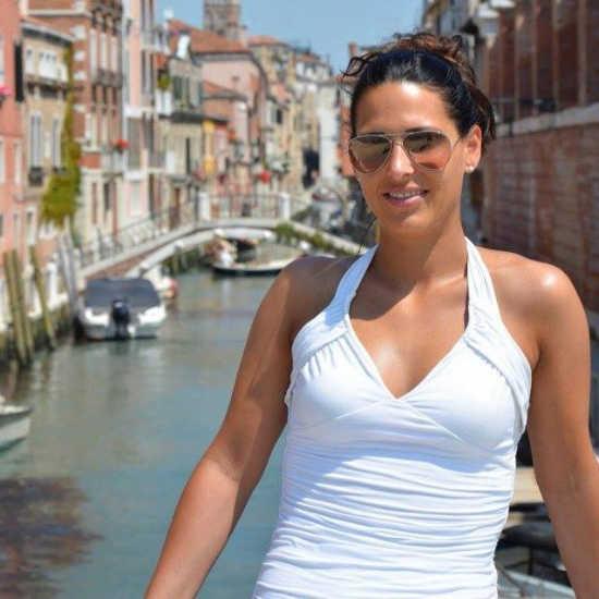 Carmen Schaefer in una visita a Venezia