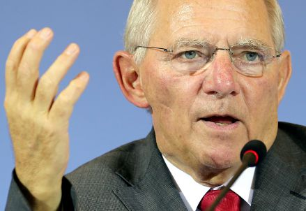 Wolfgang Schäuble, ministro tedesco delle Finanze (Infophoto)