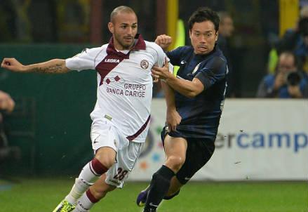 Schiattarella, attaccante Livorno (Foto Infophoto)