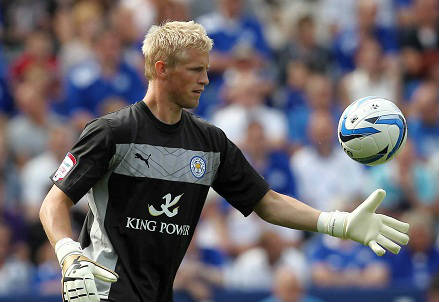 Il danese Kasper Schmeichel, 29 anni, portiere del Leicester (INFOPHOTO)