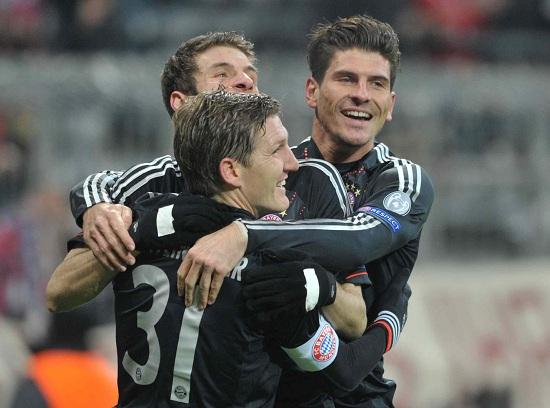 giocatori del Bayern (infophoto)