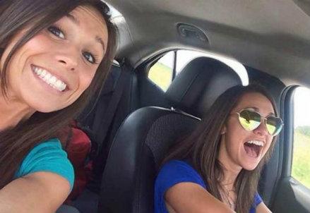 Il selfie di Colette Moreno, foto da Internet