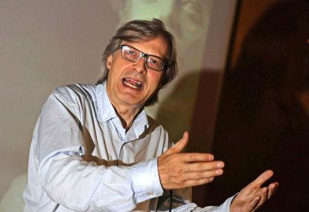 Il professor Vittorio Sgarbi (Infophoto)