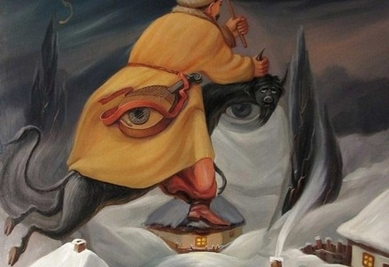 William Shakesepare visto dal pittore illusionista Oleg Shuplyak (Infophoto)