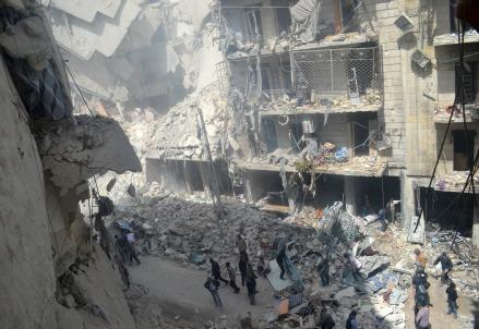 Centro urbano in macerie in Siria (Infophoto)