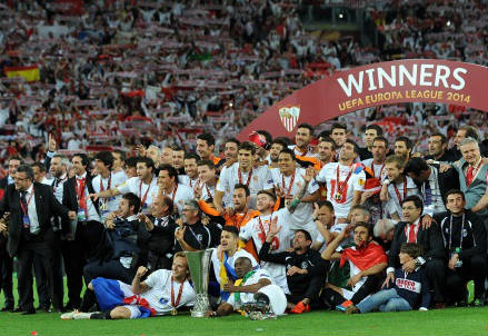 Il Siviglia ha vinto l'Europa League 2013-2014 (Infophoto)