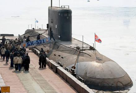Un sottomarino in un'immagine d'archivio