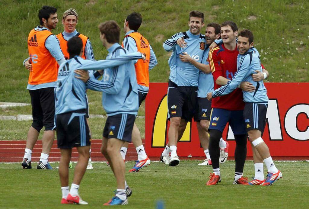 La Spagna è attesa dal big-match con la Francia (Infophoto)