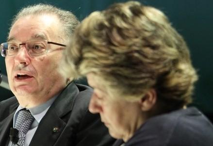 Giorgi Squinzi (S) e Susanna Camusso (Infophoto)