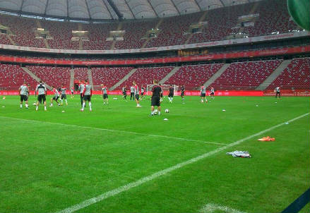 Il National Stadium di Varsavia (dall'account Twitter ufficiale @EuroQualifiers)