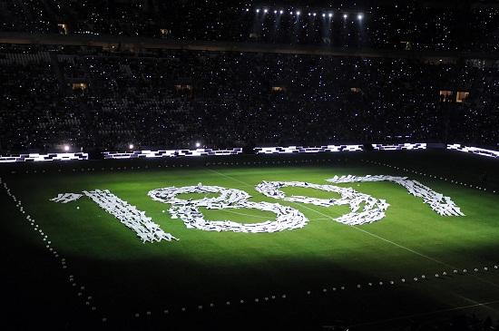 Lo Juventus Stadium: bambini in curva questa sera (Infophoto)